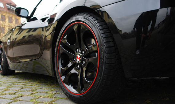 Felgenrandaufkleber Auto Mopped viele Breiten /& Farben